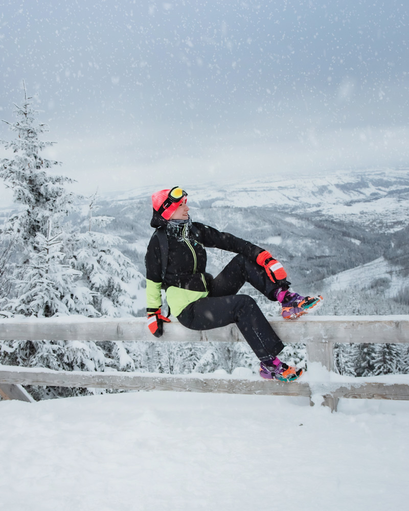 Zima w górach, mountain girl
